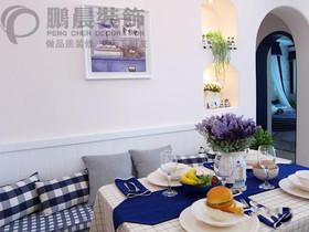 伟星玲珑湾藏岛89平地中海风格装饰效果图