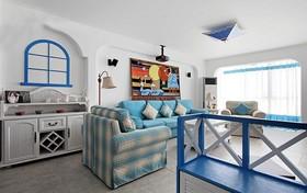 蓝色调地中海婚房