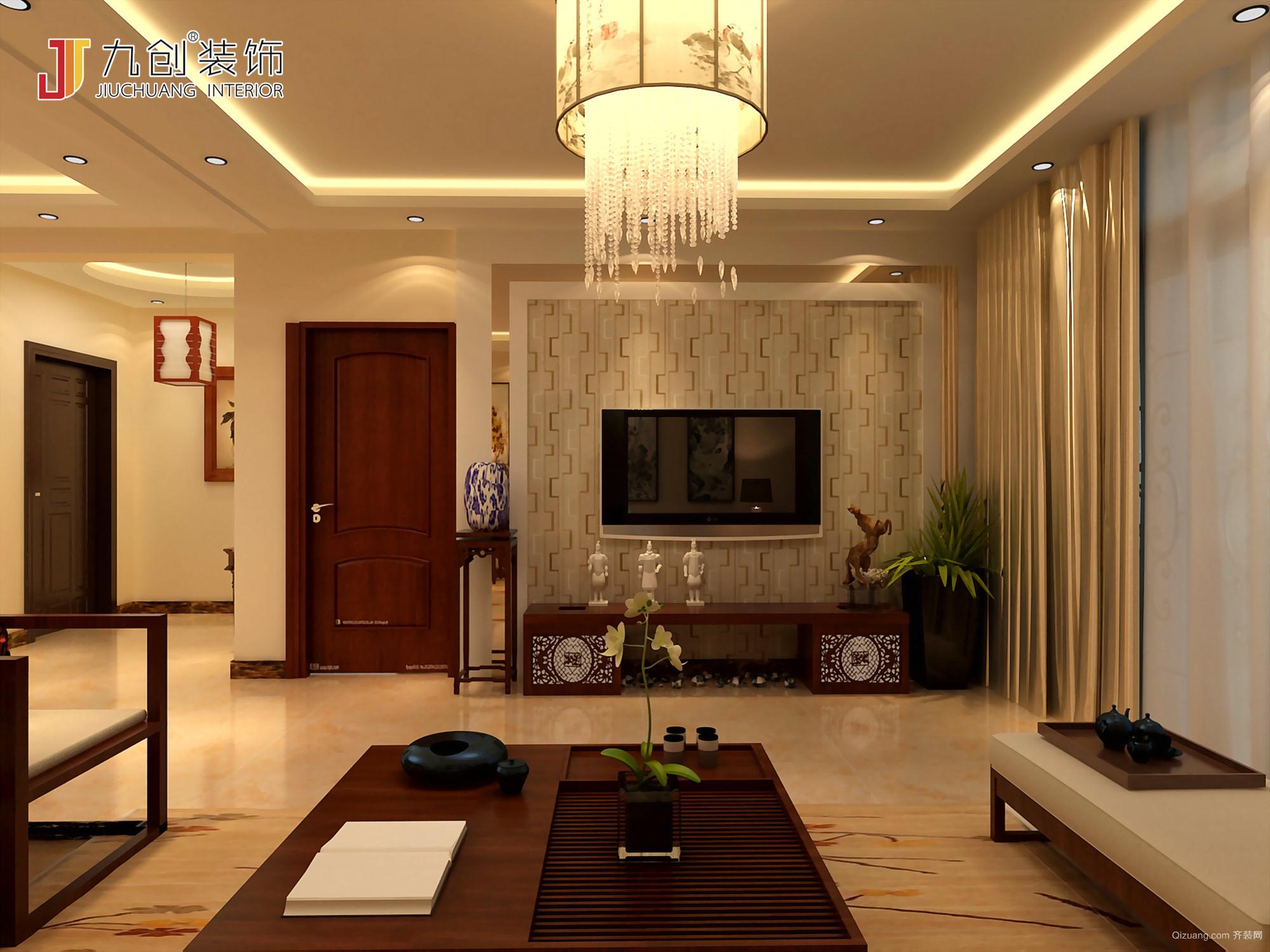 悦澜山中式风格装修效果图实景图