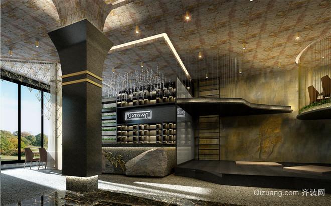 上海UPTOWN餐厅设计现代简约装修效果图实景图