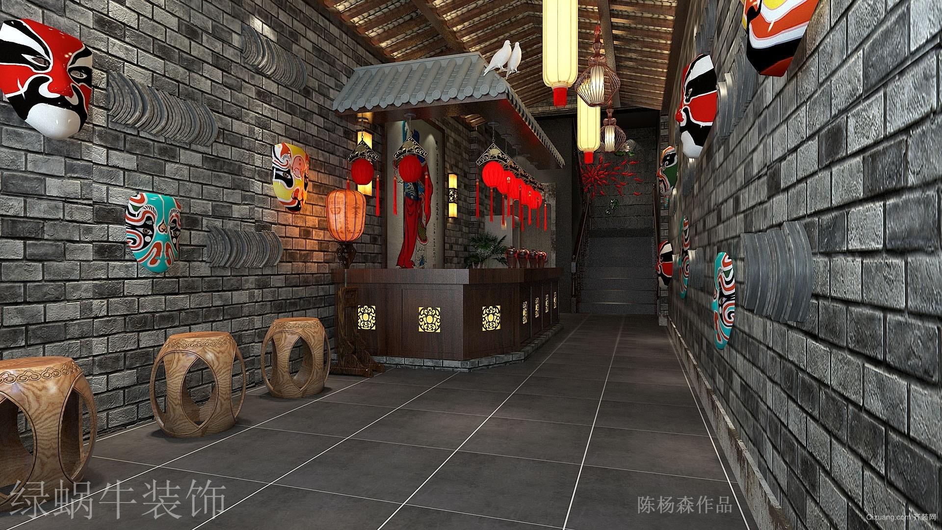 翻江龙中式风格装修效果图实景图