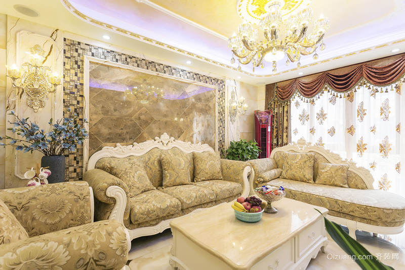 醴陵紫荆苑欧式风格装修效果图实景图