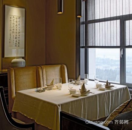 餐馆茶馆中式风格装修效果图实景图