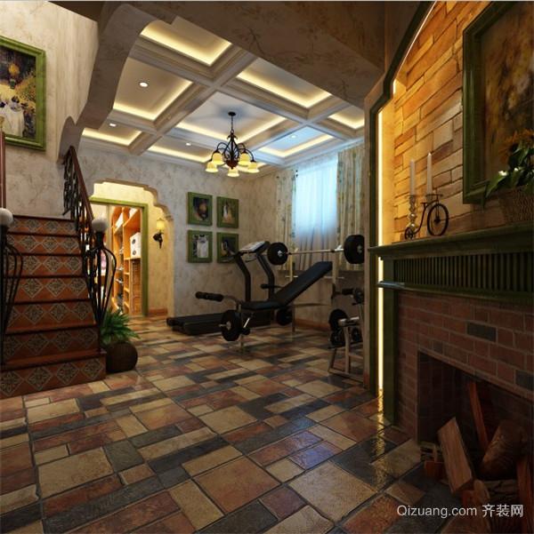 金地自在城美式风格装修效果图实景图