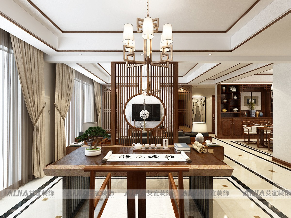 华润凯旋门中式风格装修效果图实景图