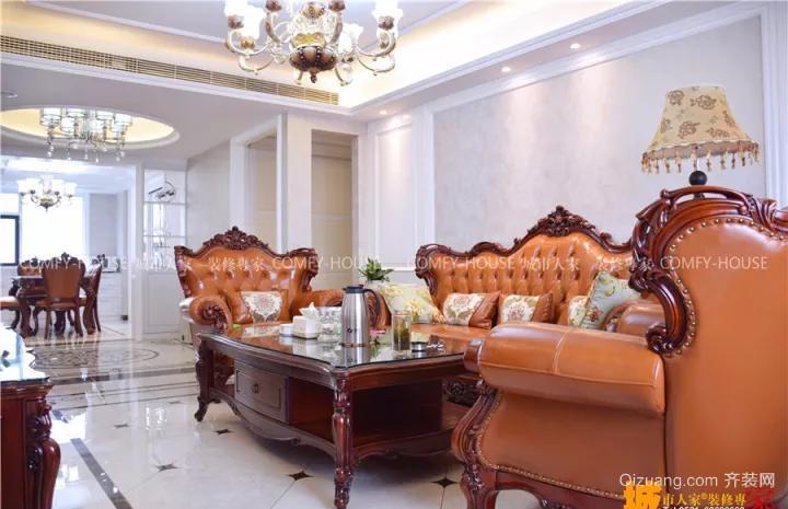 华泰国际花园美式风格装修效果图实景图