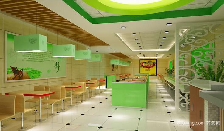 餐馆现代简约装修效果图实景图