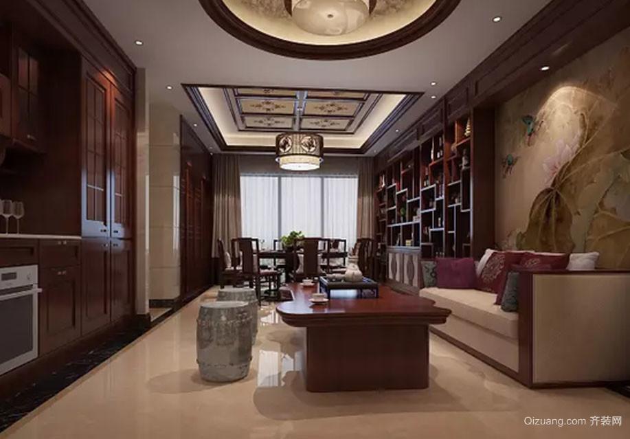 富春山居中式风格装修效果图实景图
