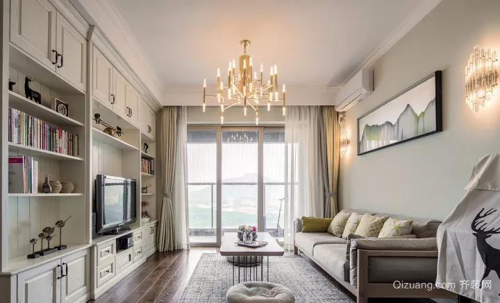 海珠怡景楼欧式风格装修效果图实景图