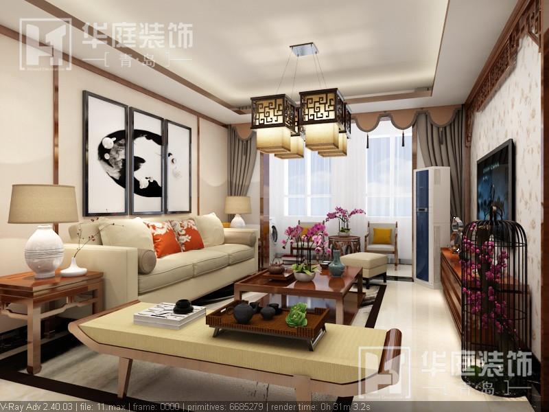 红枫谷中式风格装修效果图实景图