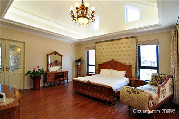 天水别墅美式风格装修效果图实景图