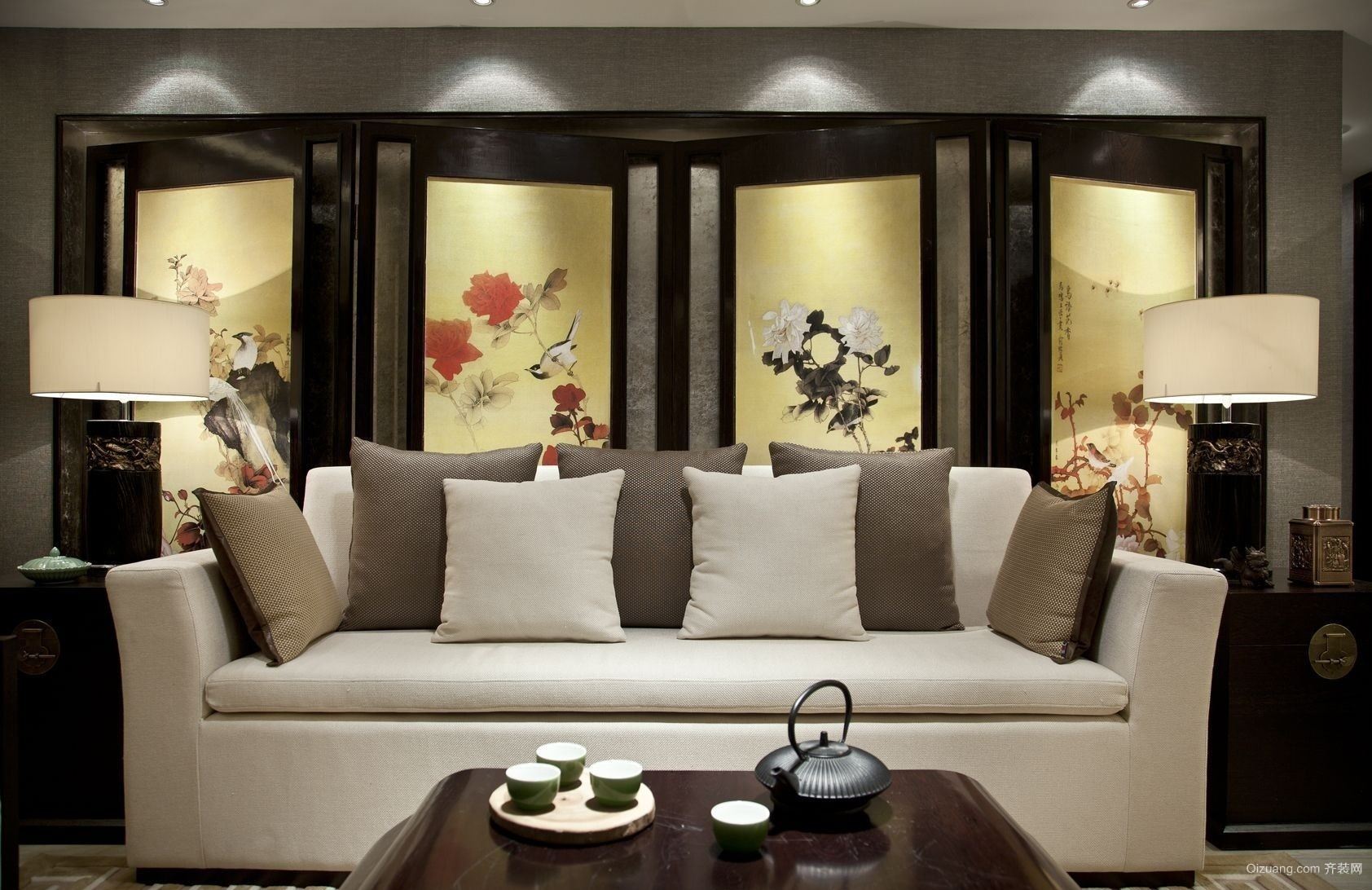 万象江山中式风格装修效果图实景图