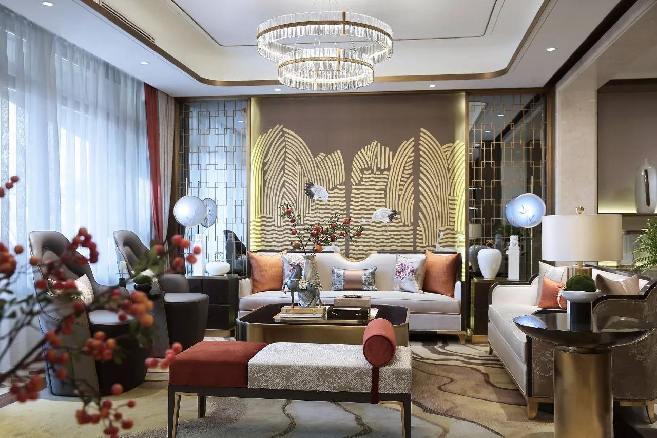 保利香槟花园中式风格装修效果图实景图