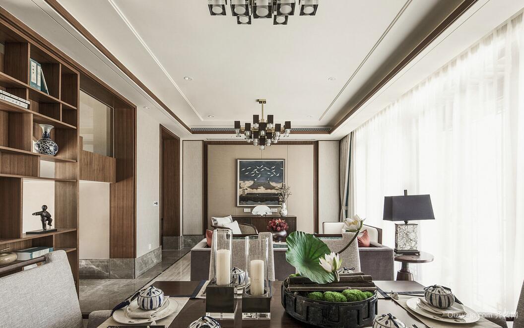 风尚米兰中式风格装修效果图实景图