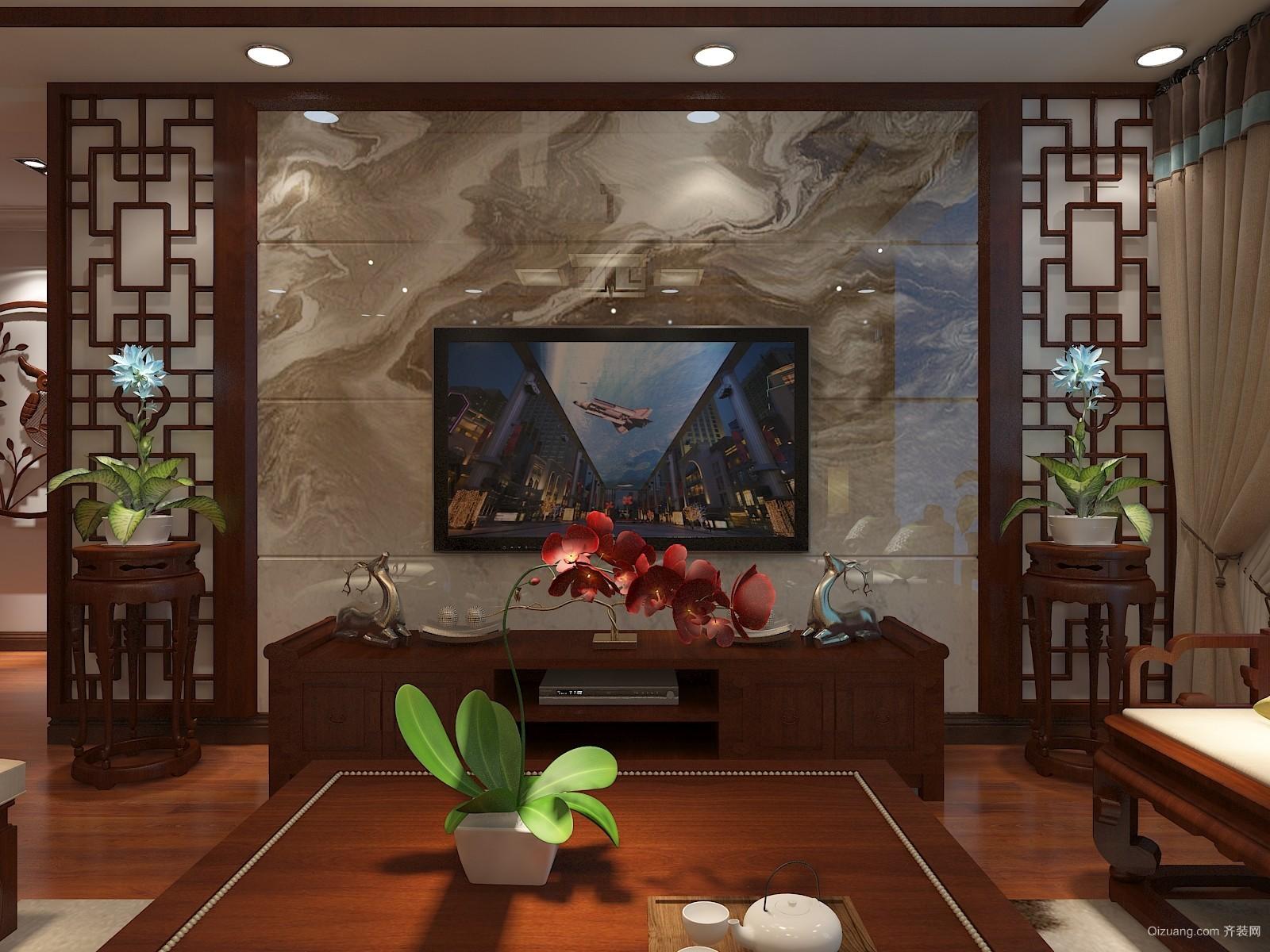 北宋新苑中式风格装修效果图实景图
