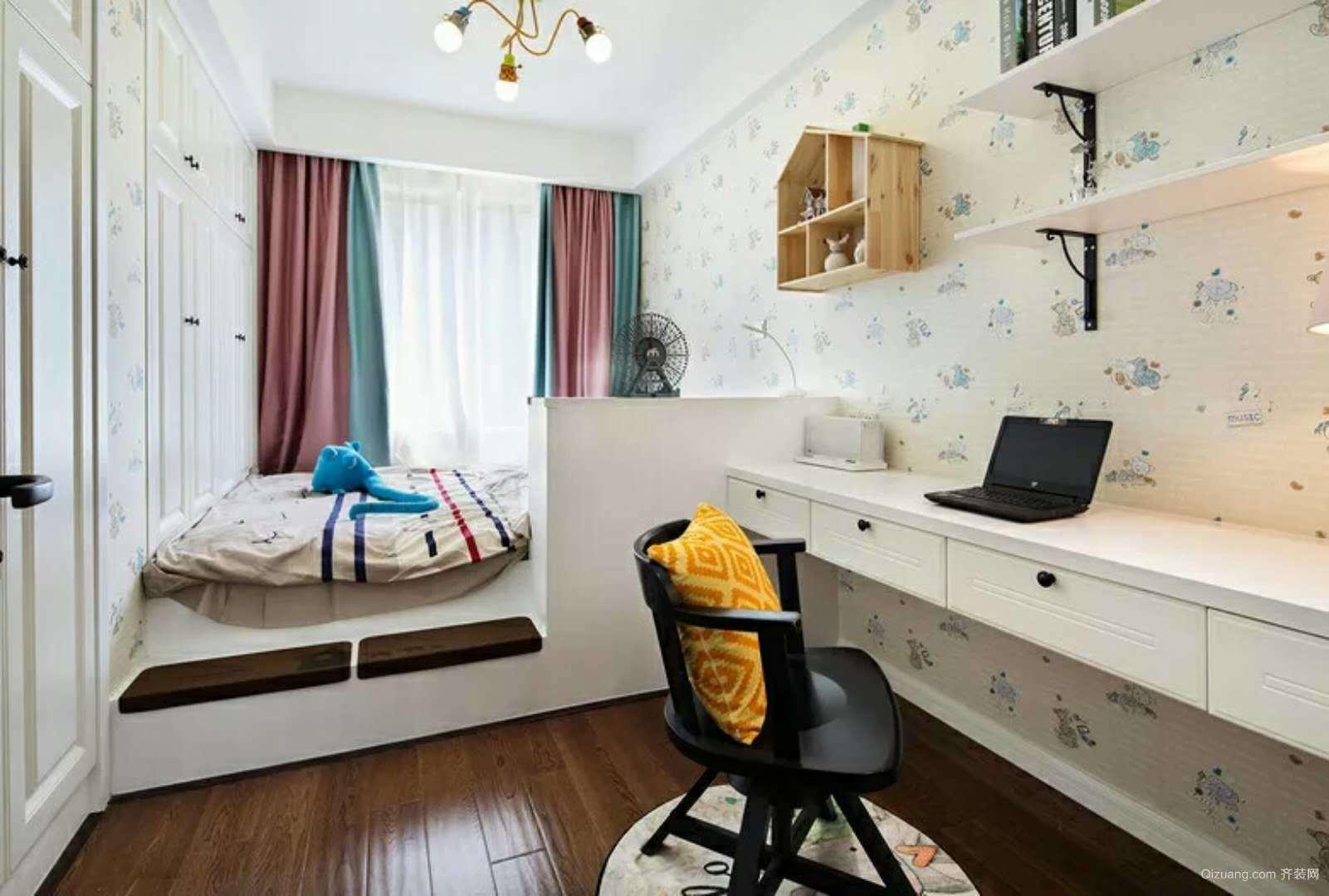 鼎峰公园豪庭美式风格装修效果图实景图