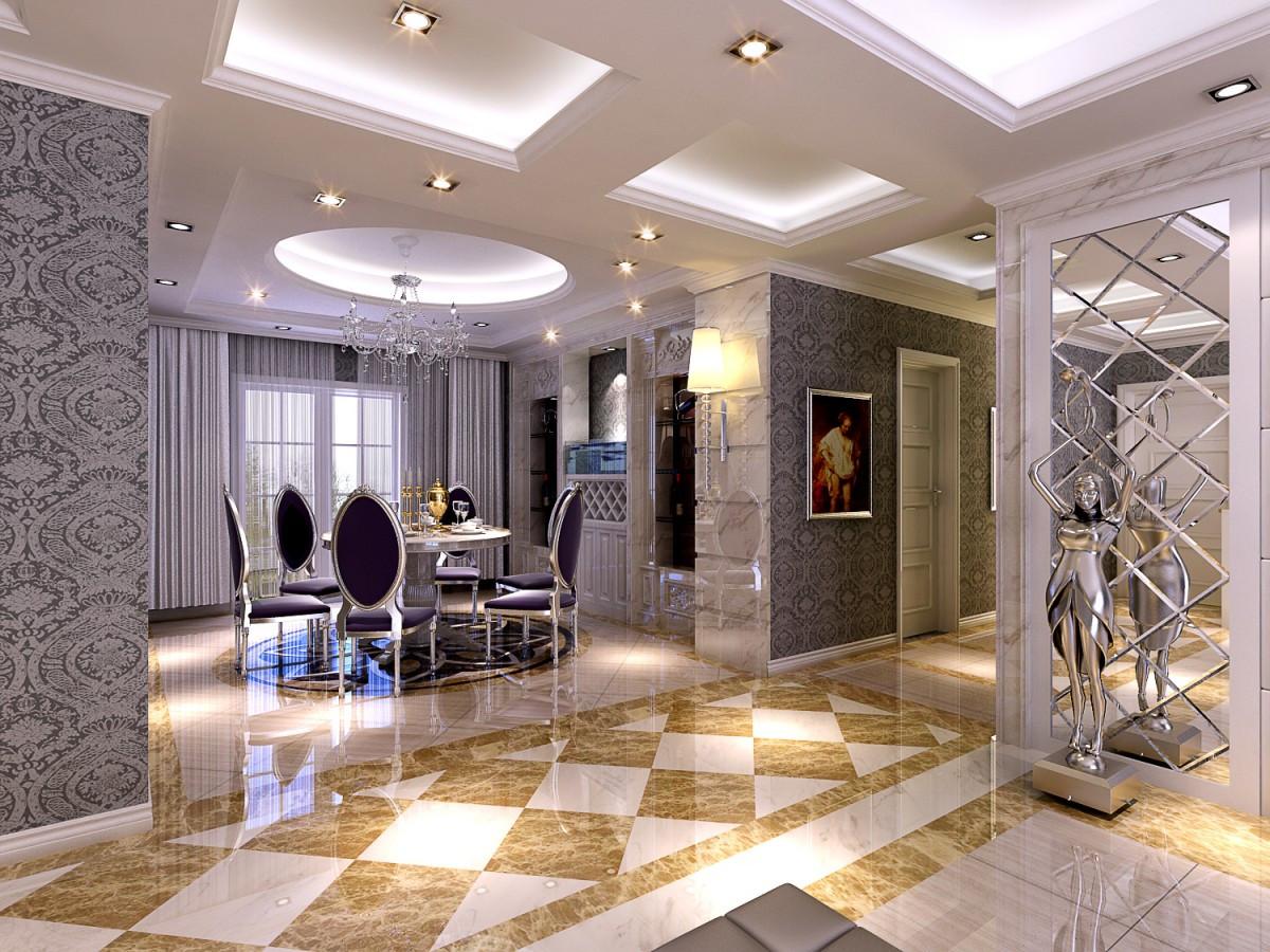 海尔月湖兰庭欧式风格装修效果图实景图