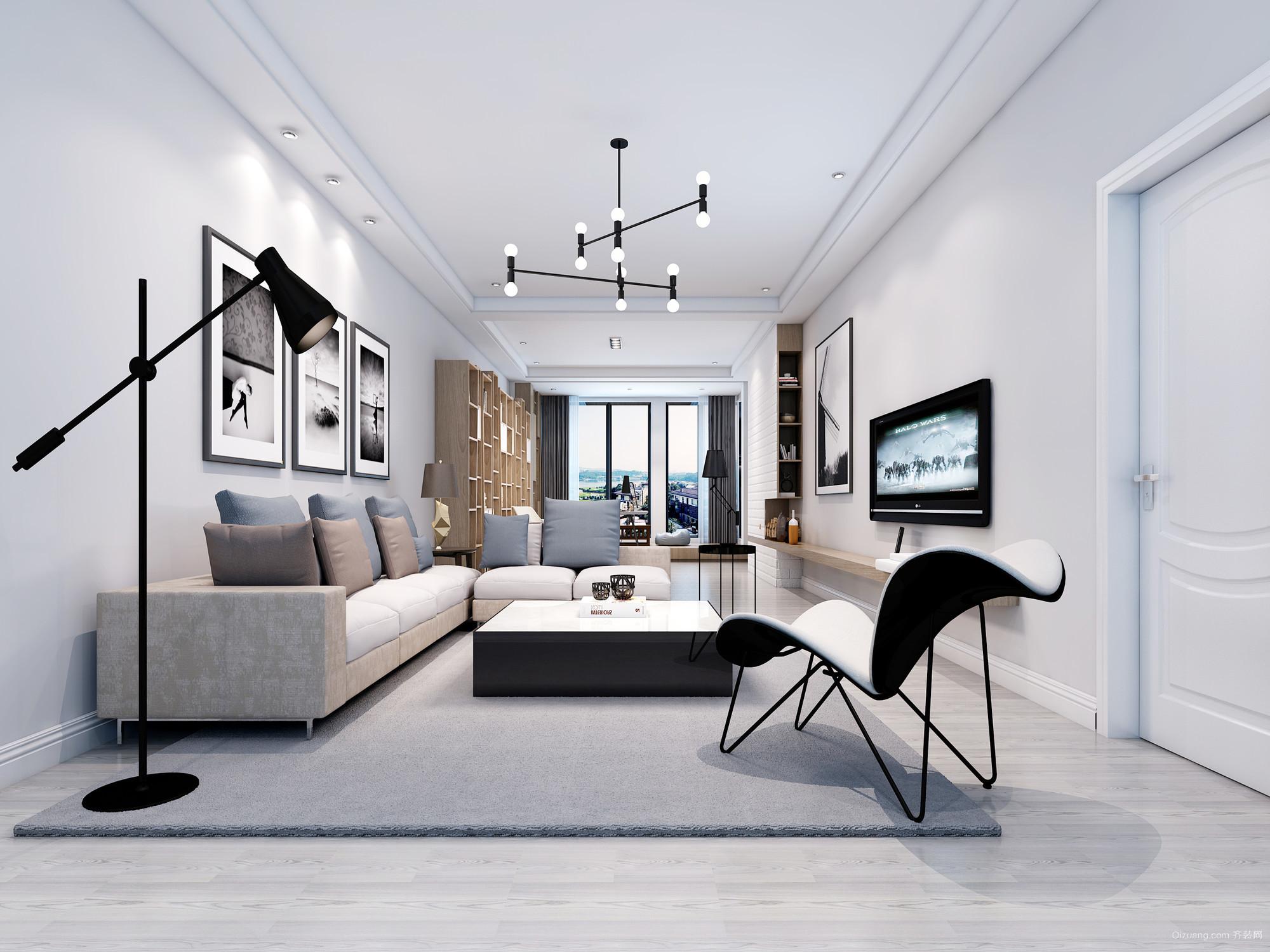 鱼山私房现代简约装修效果图实景图