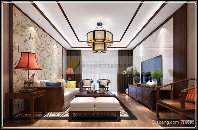 金领世家中式风格装修效果图实景图