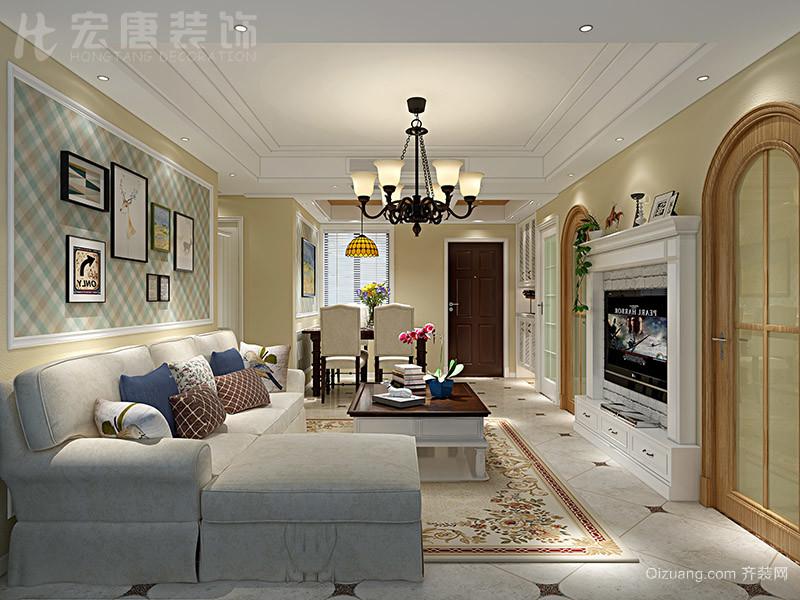 万联·凤凰城美式风格装修效果图实景图