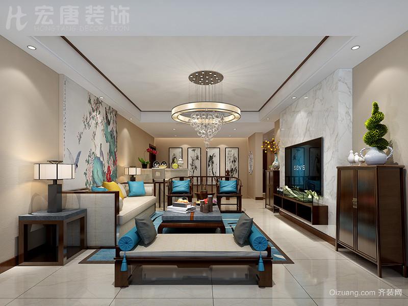 华萃庭院中式风格装修效果图实景图