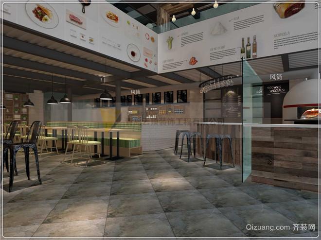 披萨店现代简约装修效果图实景图