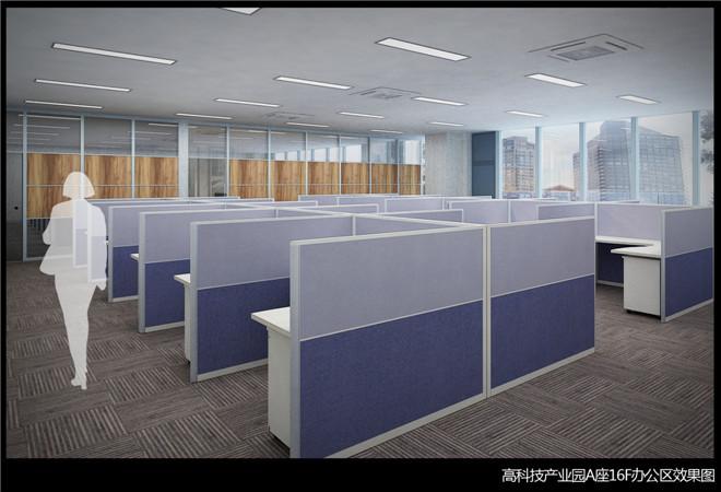 黄岛办公现代简约装修效果图实景图