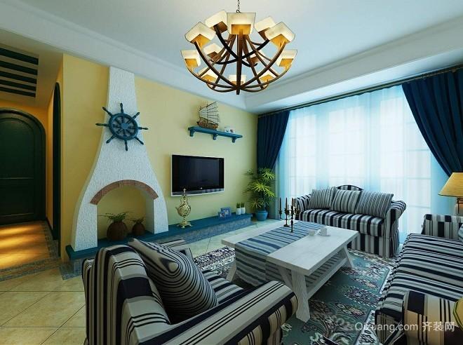无锡万达文化旅游城地中海风格装修效果图实景图