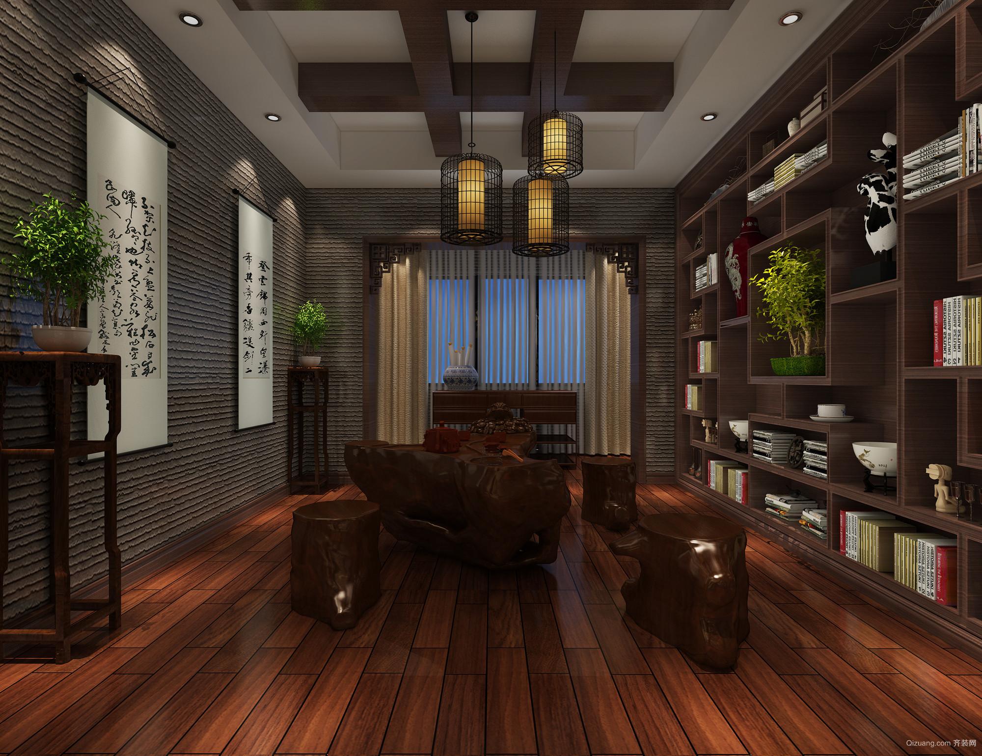 安居东城中式风格装修效果图实景图