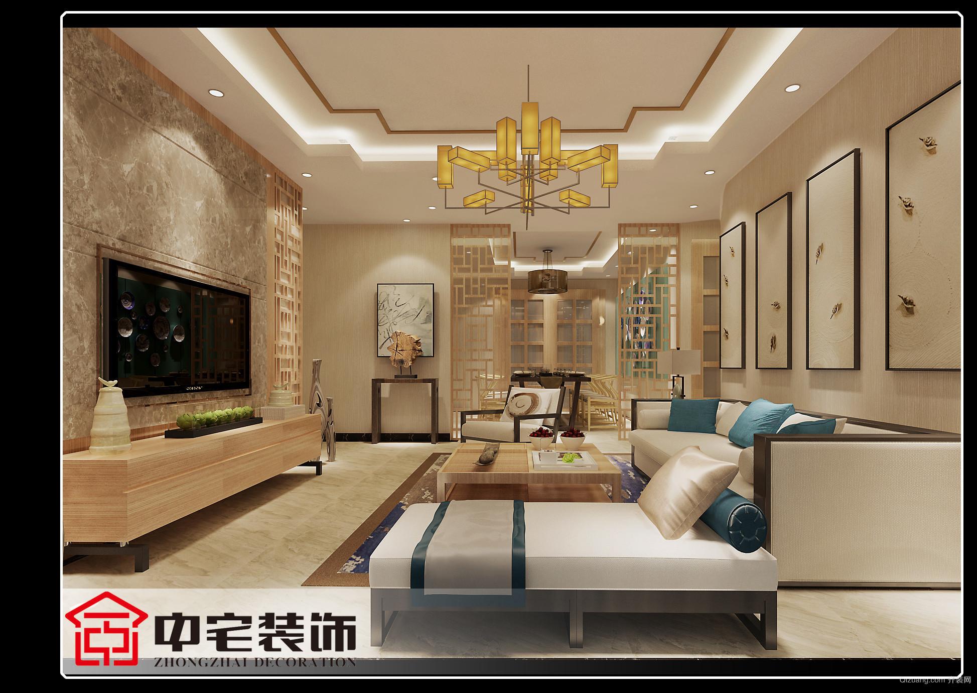 柳南万达广场欧式风格装修效果图实景图