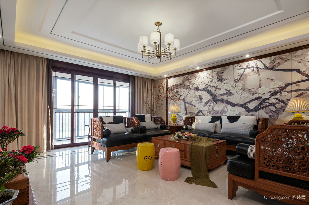 广东东湖花园现代简约装修效果图实景图