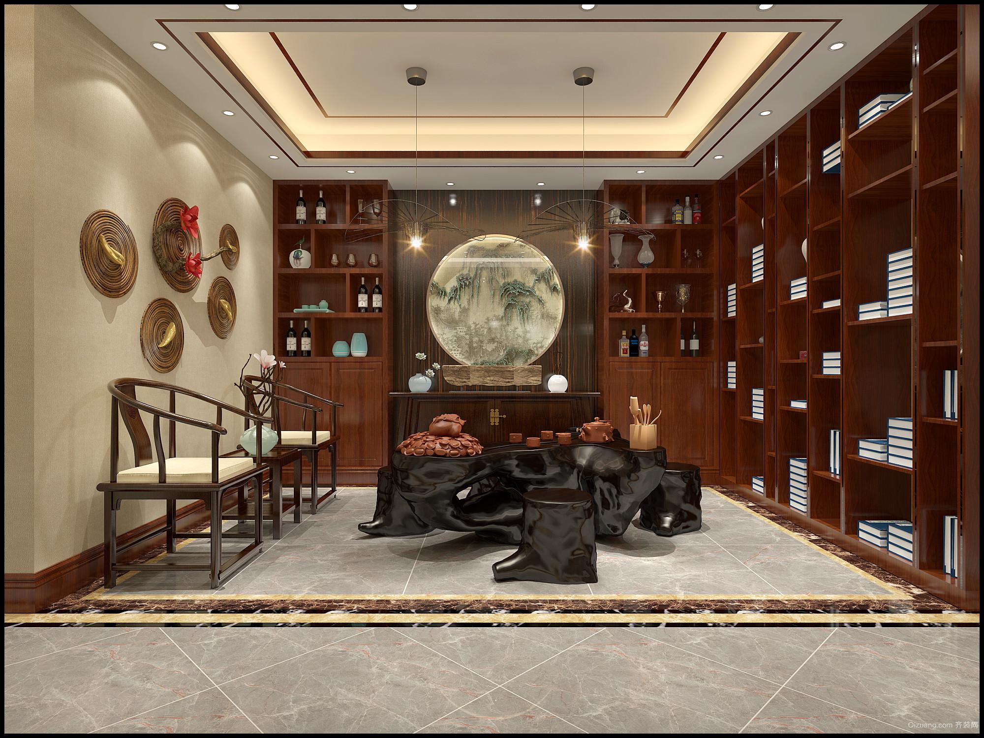 晓港名城中式风格装修效果图实景图