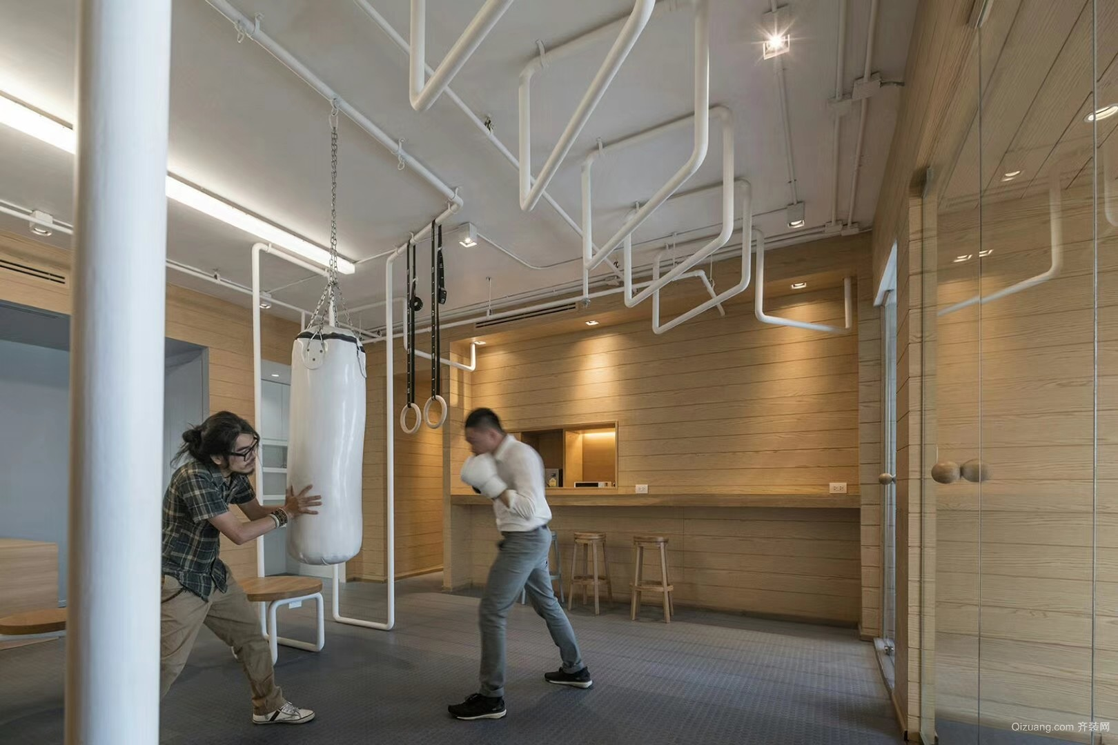 广州工作室现代简约装修效果图实景图