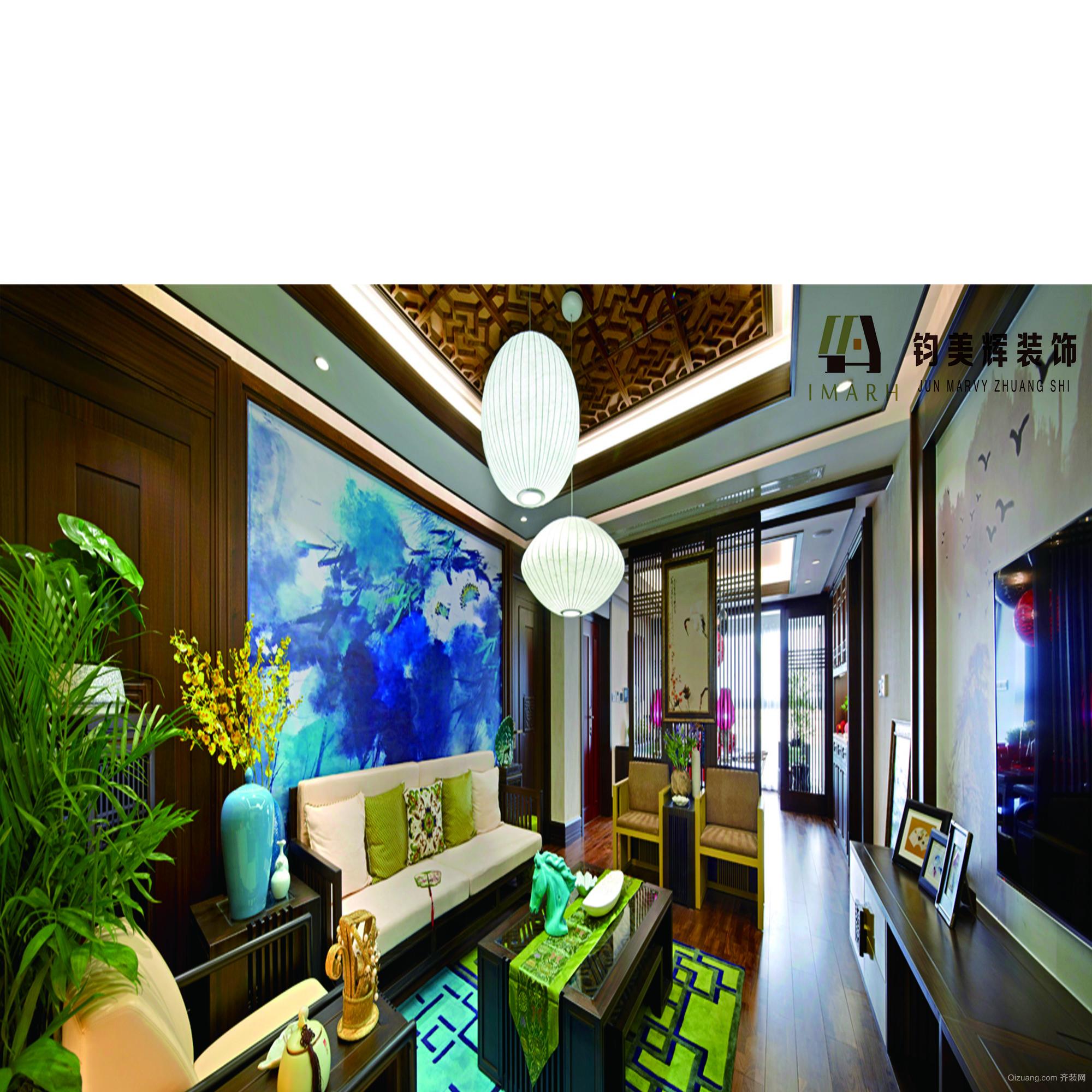尚都豪庭中式风格装修效果图实景图