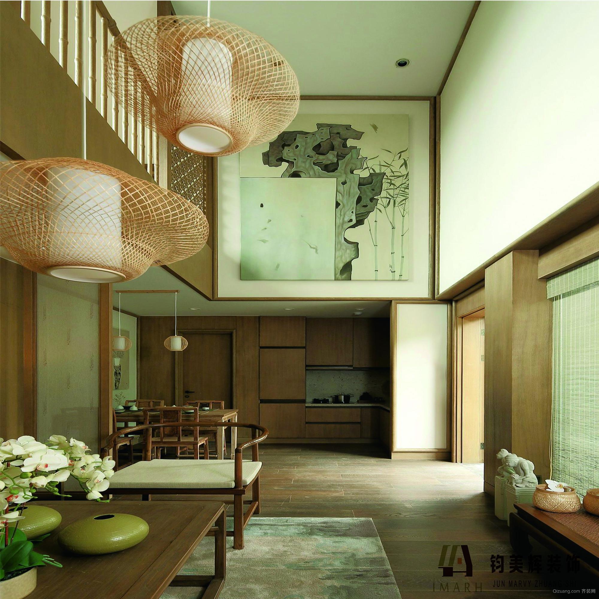 宝新花园中式风格装修效果图实景图