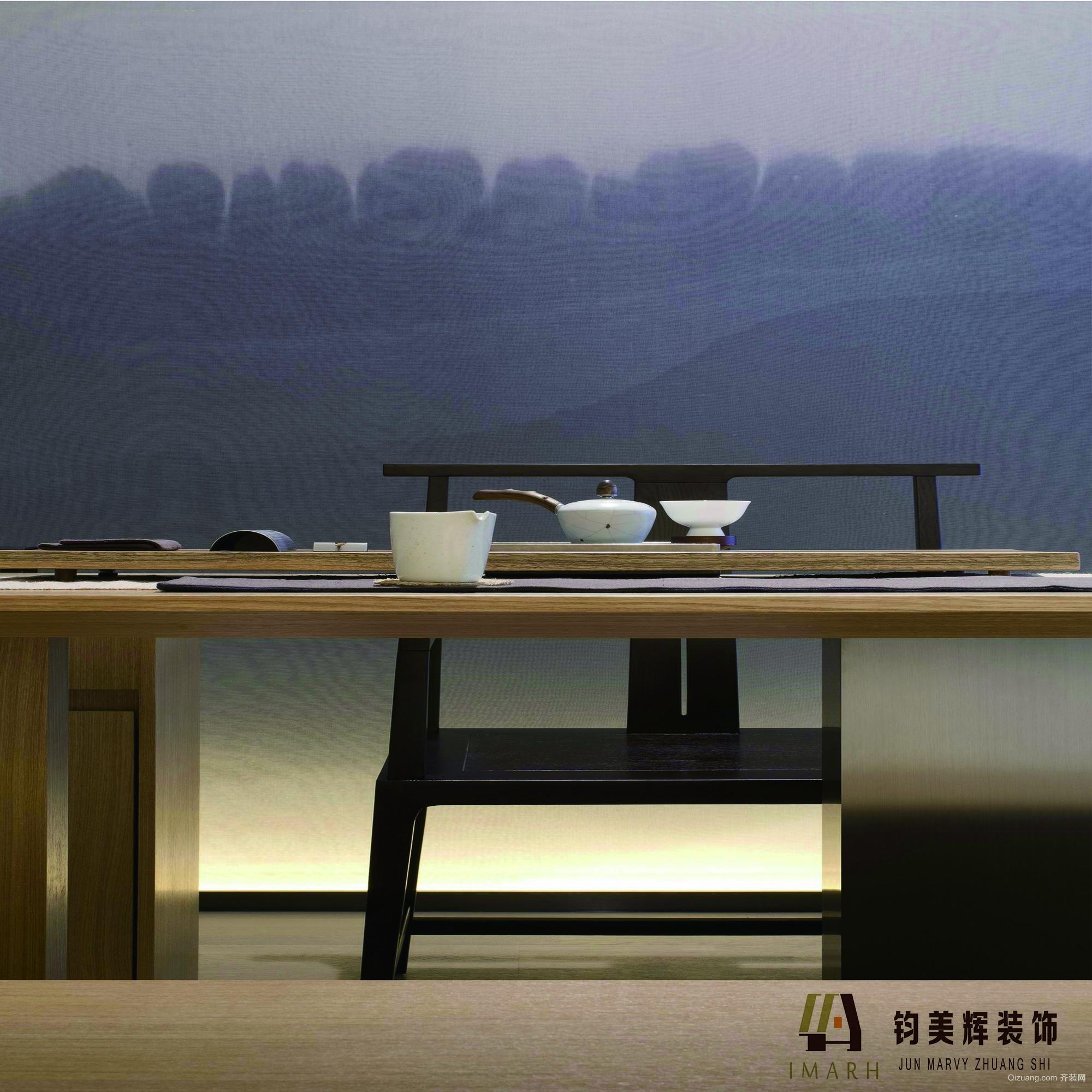 华夏澜山中式风格装修效果图实景图