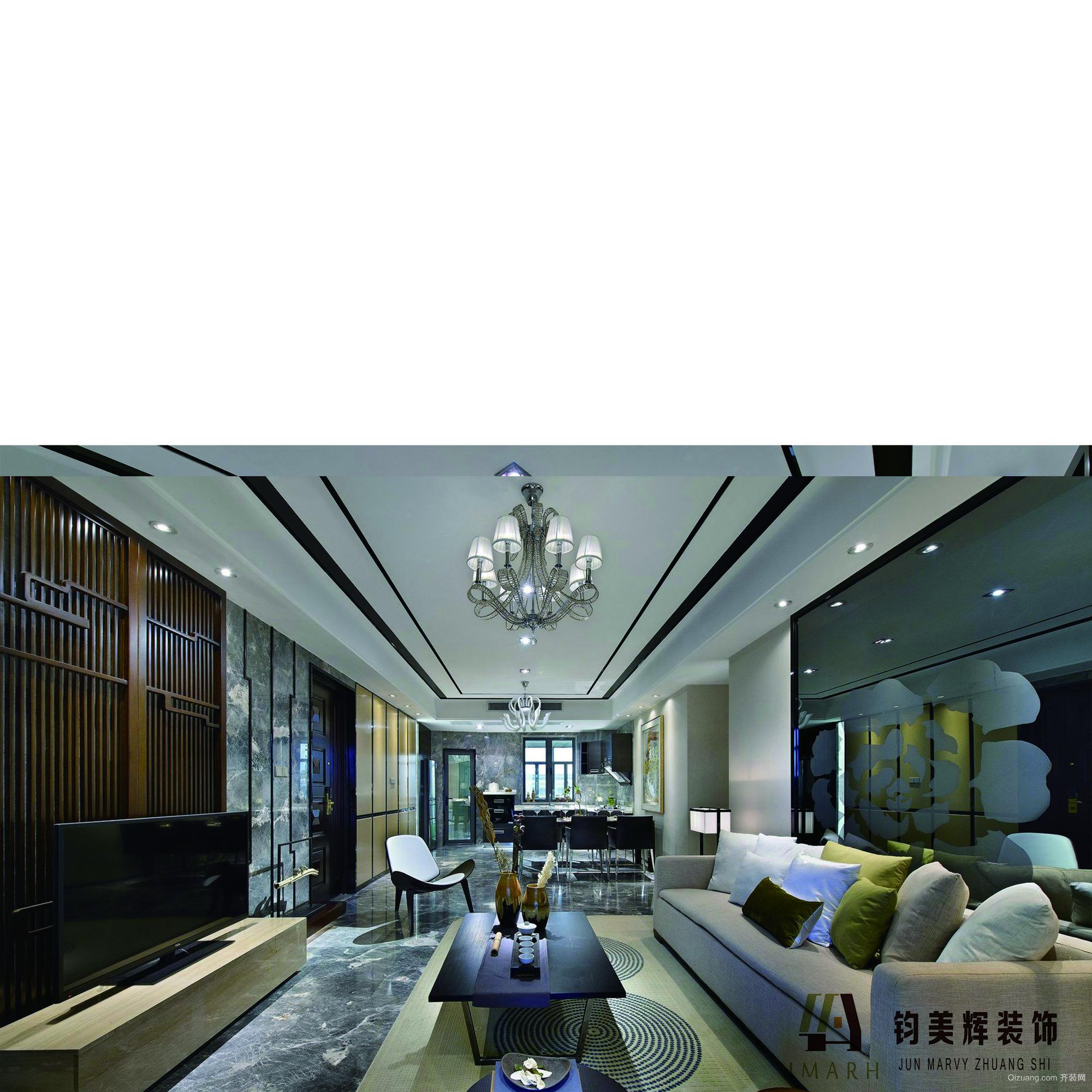 紫东尚苑欧式风格装修效果图实景图