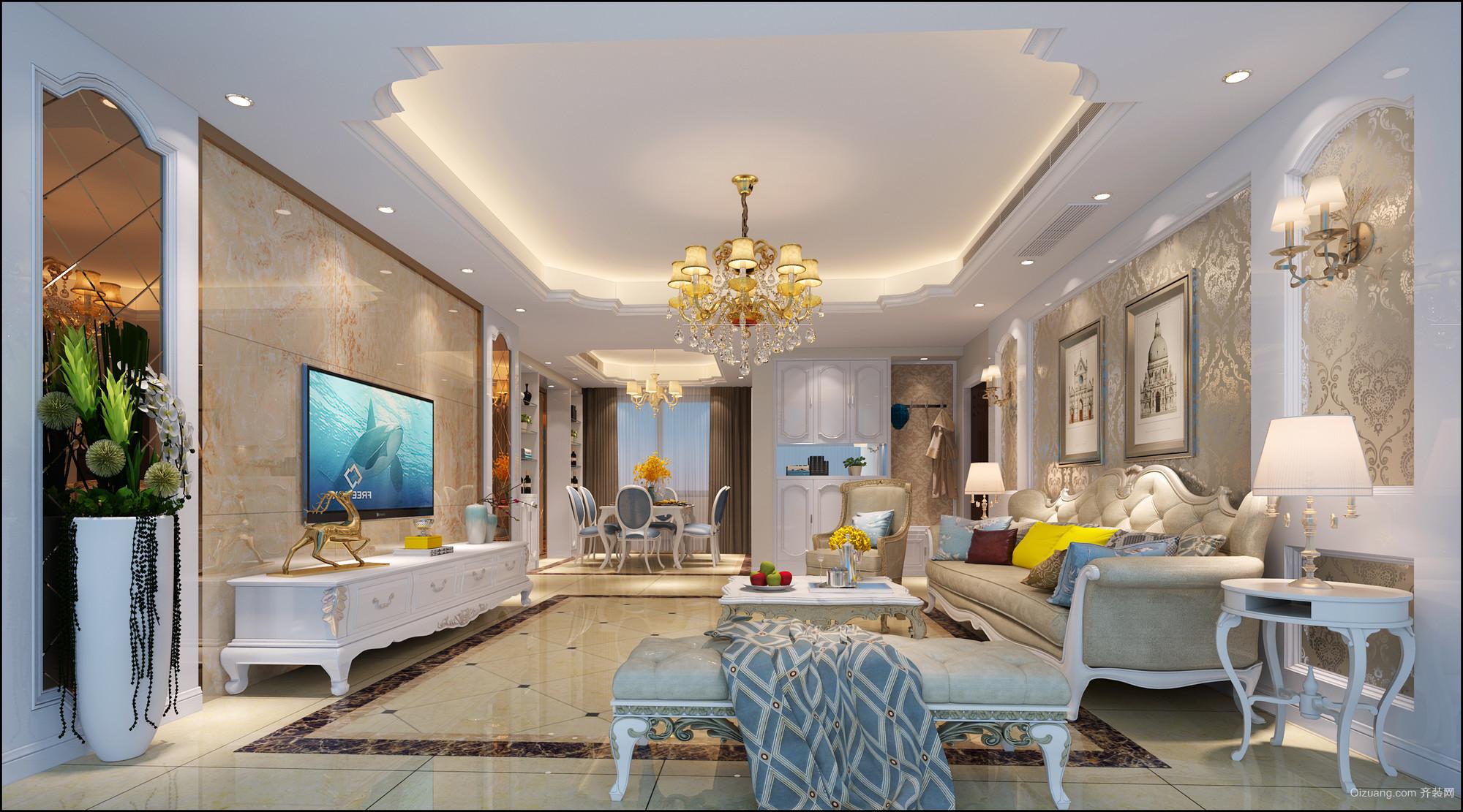 金地家园欧式风格装修效果图实景图
