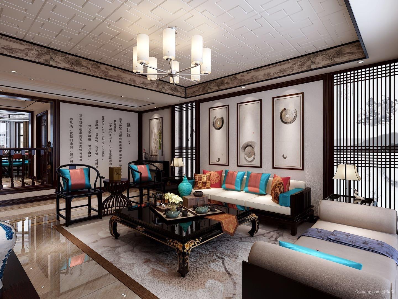 曲江·龍邸中式风格装修效果图实景图
