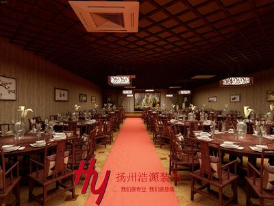 扬州中式餐厅装修设计案例