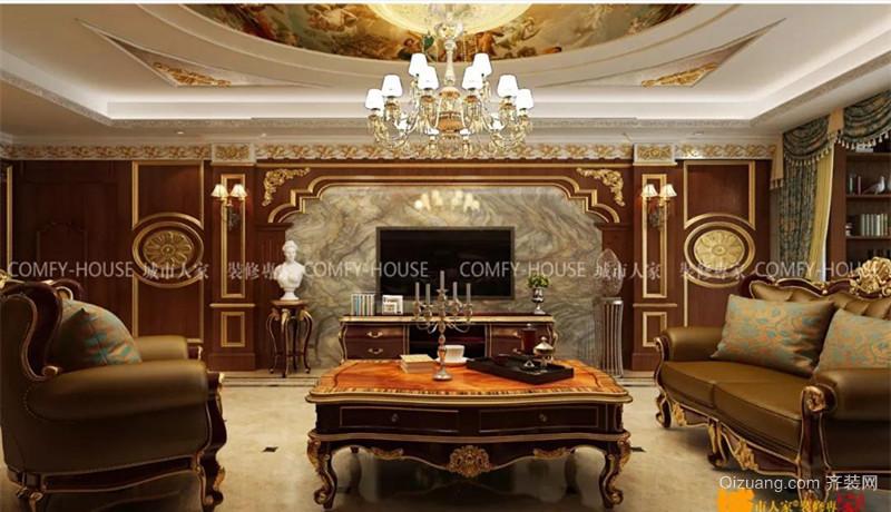 古典美式雅居美式风格装修效果图实景图