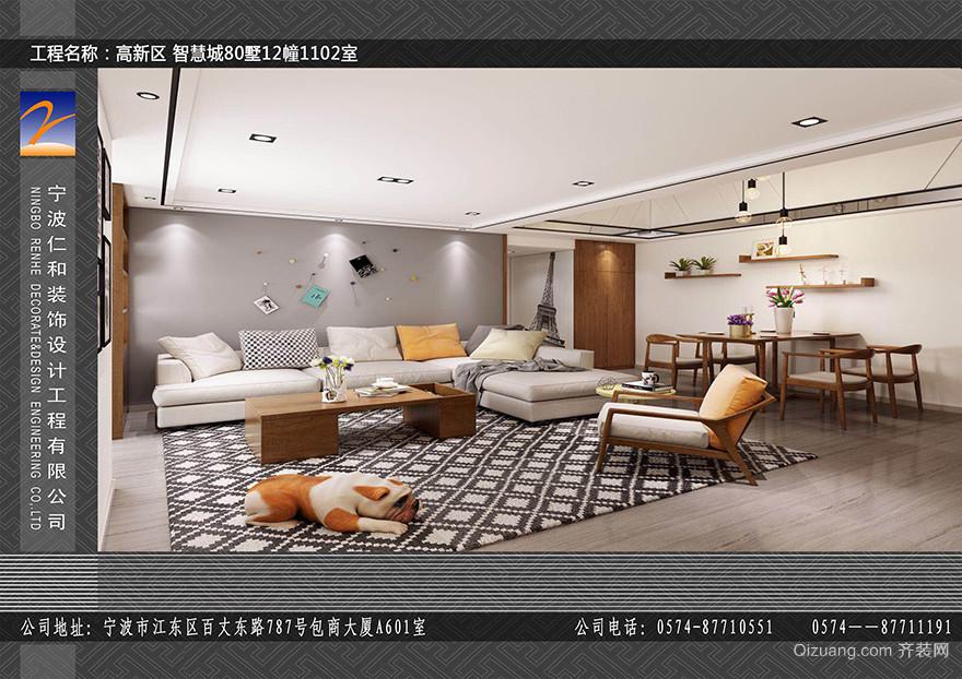 80墅现代简约装修效果图实景图