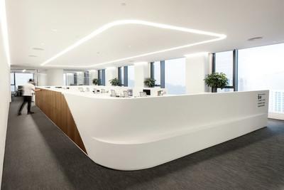 广州大型办公室装修装修设计案例