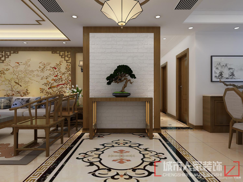 金地悦峰中式风格装修效果图实景图