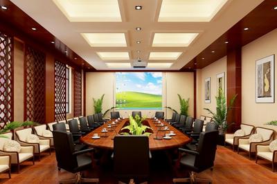 瑞安会议室装修设计案例