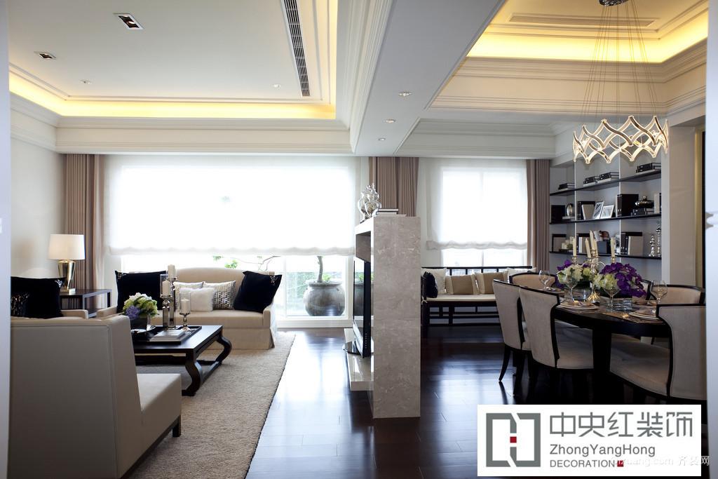 西上海华府现代简约装修效果图实景图