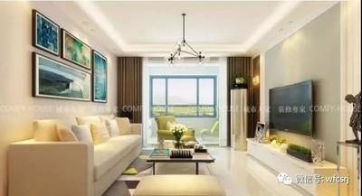 潍坊三室两厅简约风格装修装修设计案例