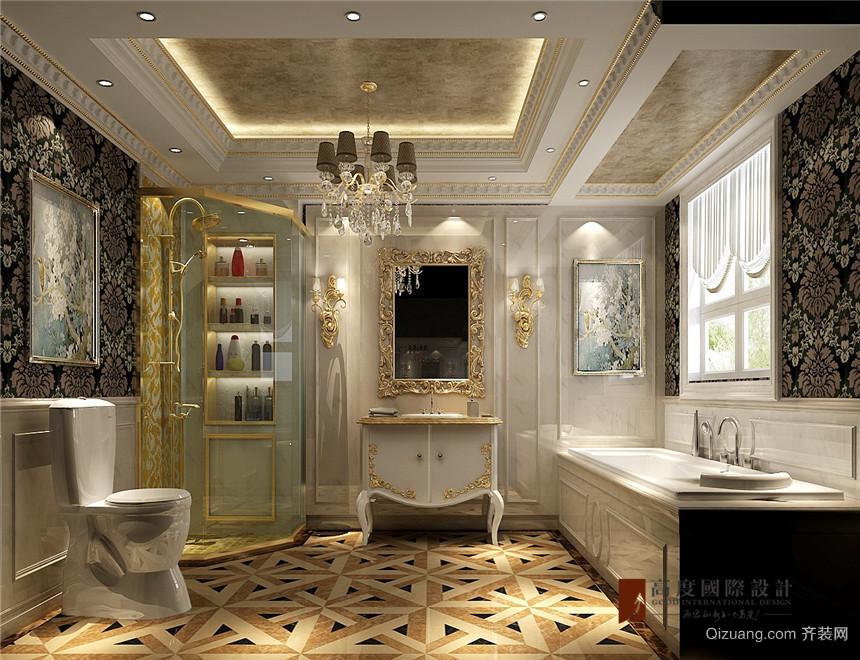 北京城建·徜徉墅古典风格装修效果图实景图