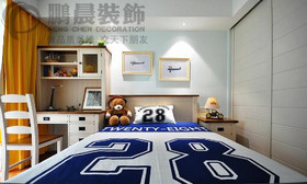 东方蓝海120平中式装饰效果图