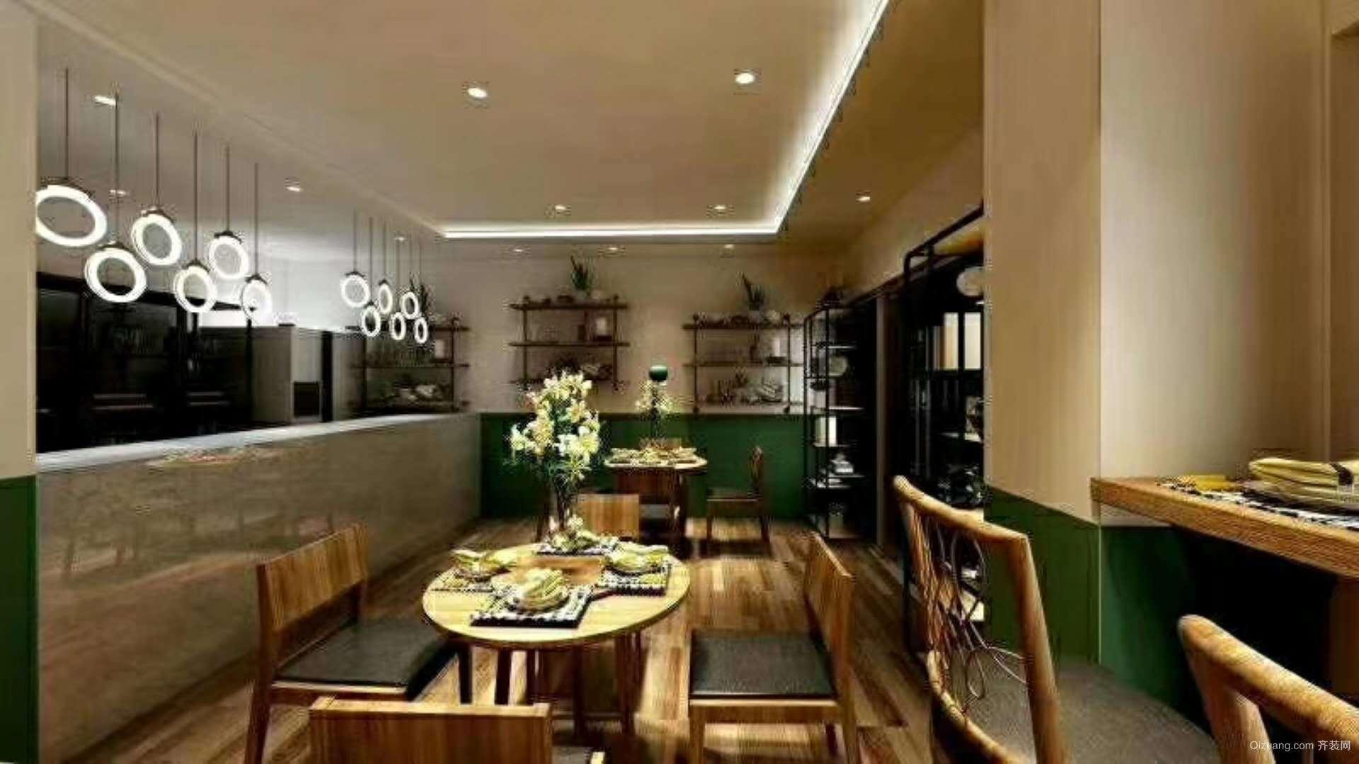 西餐厅混搭风格装修效果图实景图